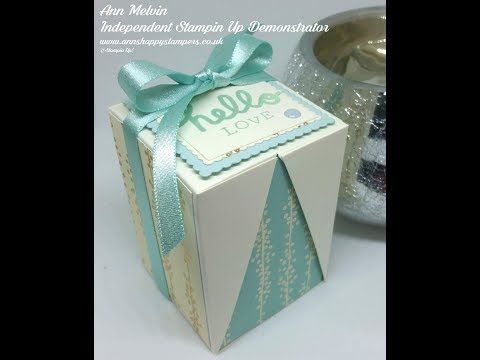 Youtube Drop Sided Box In A Box Annhappeystampers Gift Box Template Handmade Box Exploding Box Card