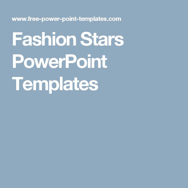 fashion stars powerpoint templates aa pinterest ppt