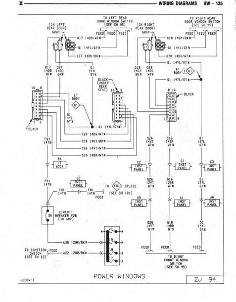 1994 Jeep Grand Cherokee Wiring Diagram Em 2020