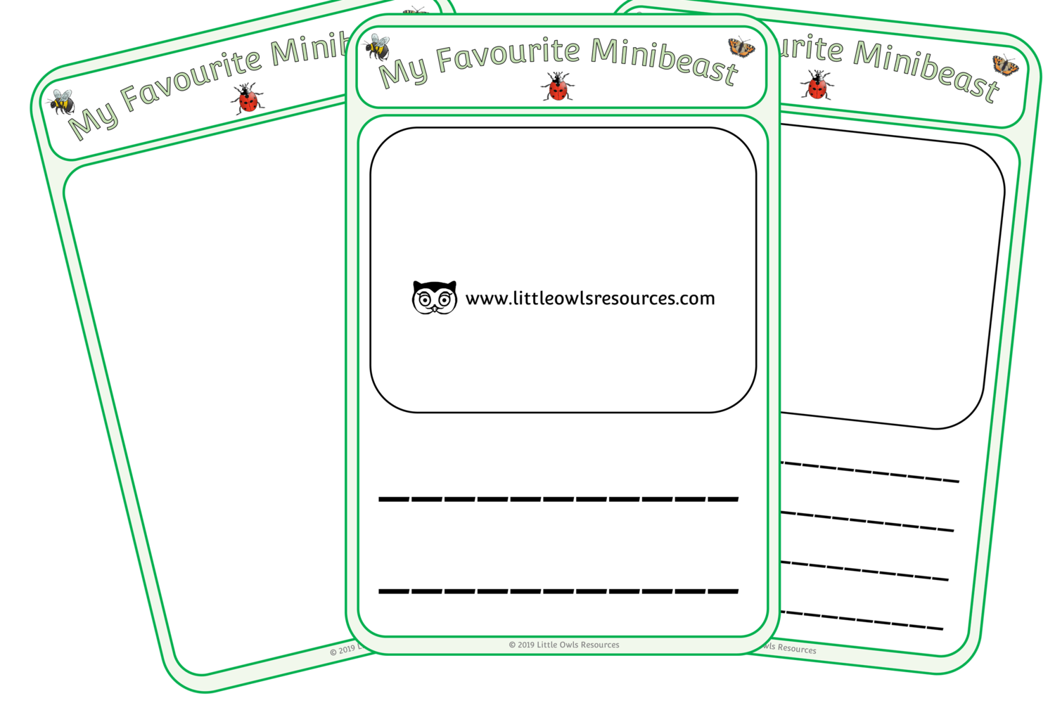 Free My Favourite Minibeast Sheets Printable Early Years