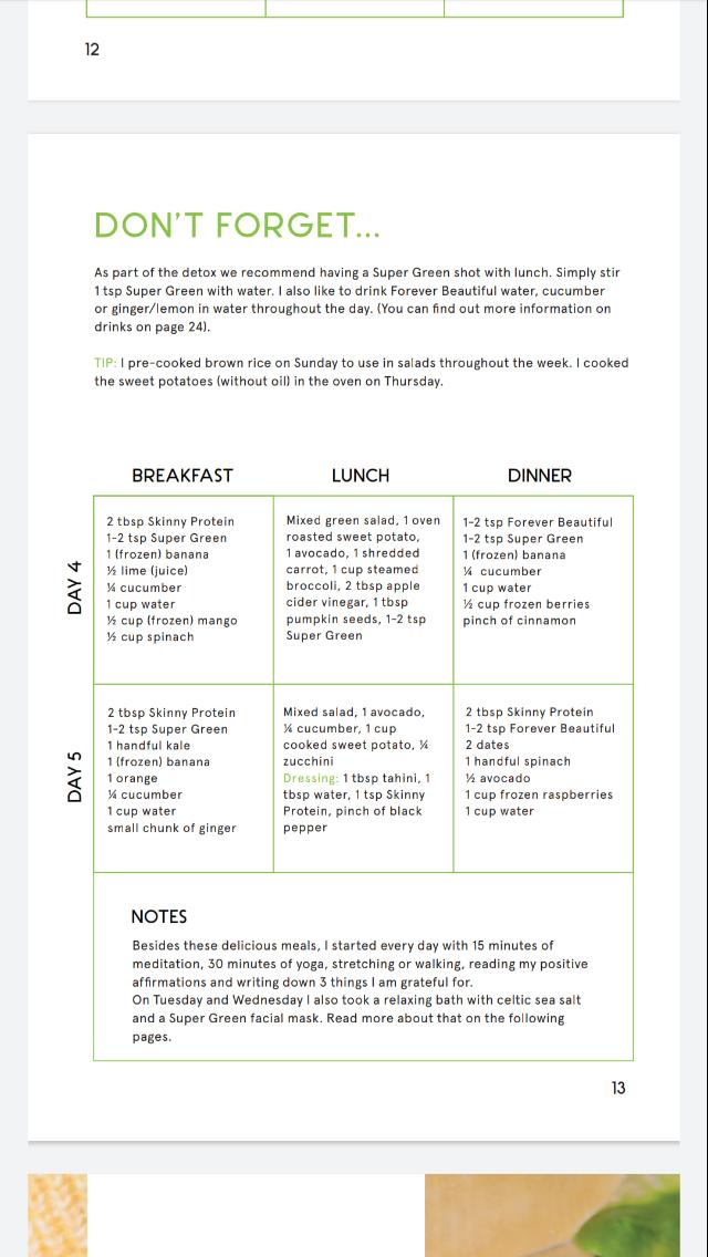 5 day detox diet plan pdf)
