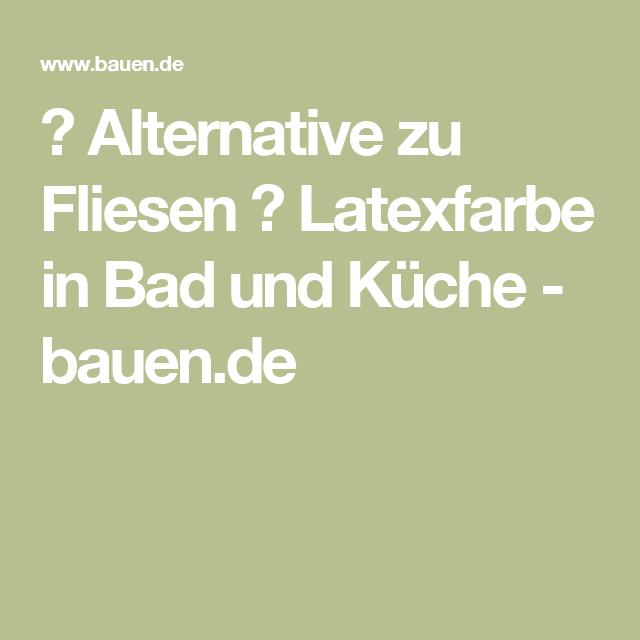 Alternative Zu Fliesen Latexfarbe In Bad Und Kuche
