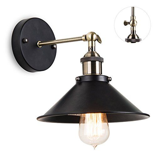 Elecwish Industrial Victorian Edison Wall Sconce Lamp Sha Industrial Wall Lights Vintage Bulb Ceiling Light Shades