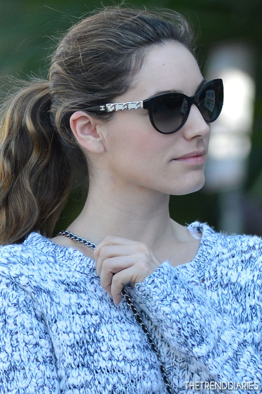 Chanel Sunglasses on Kelly Brook out in Miami, Florida