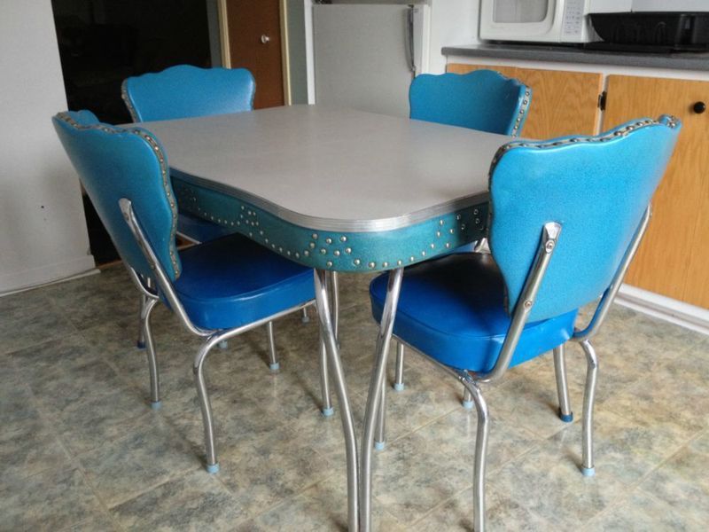 kitchen table and chairs |  formica kitchen set turquoise vinyl