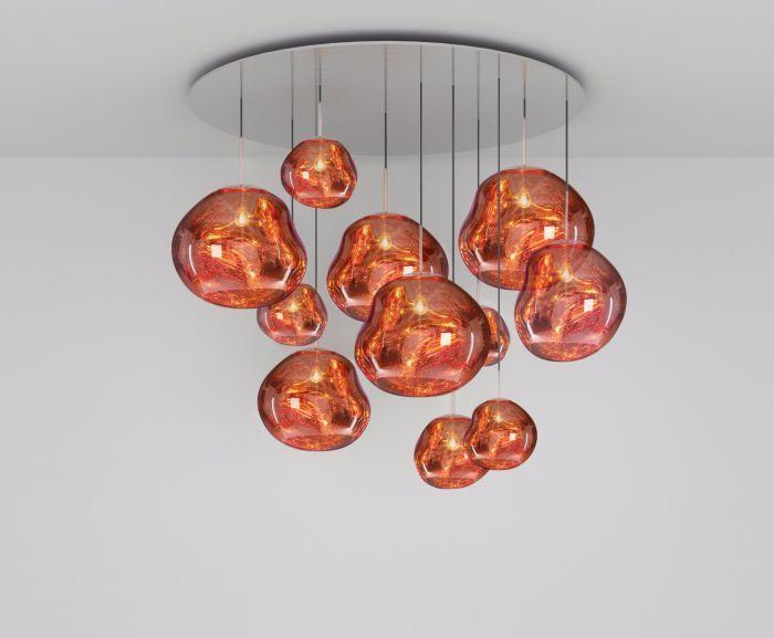 Melt Copper Mega Pendant System Pendant Wall Lights