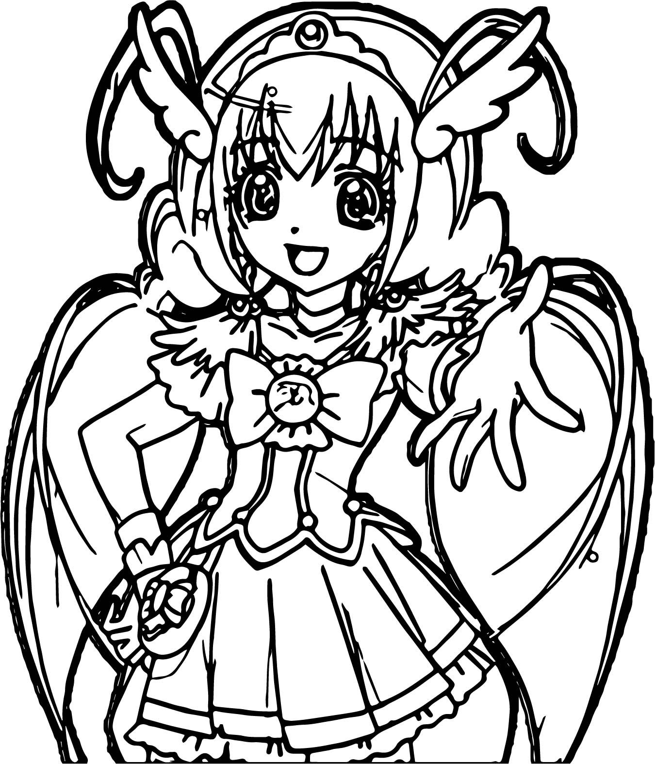 Cool Glitter Force Peace Time Coloring Page With Images Moon