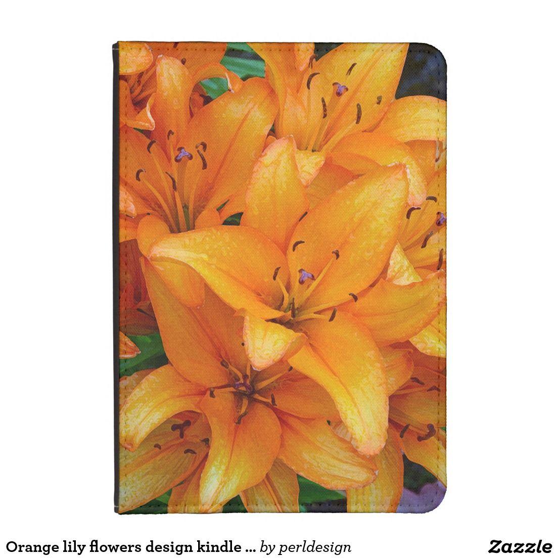 Orange lily flowers design kindle case ipad and other electronic orange lily flowers design kindle case izmirmasajfo