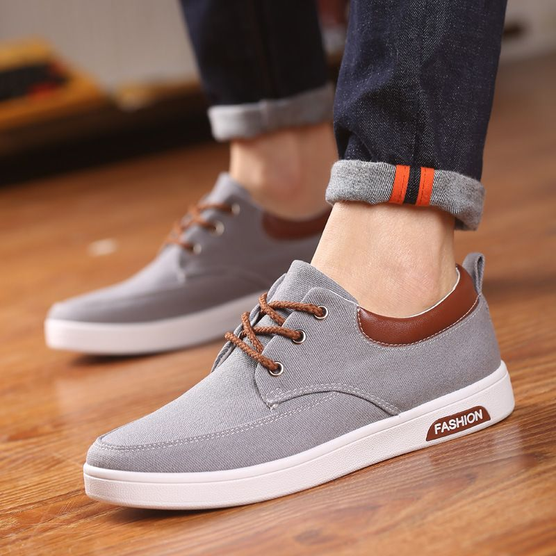 New Men Casual Shoes 2016 Breathable Handmade Canvas Men Shoes Luxury Brand  Tenis Light Casual Shoes