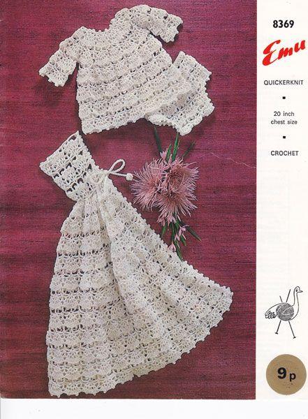 vintage crochet baby pattern | Crochet baby/ little girl Dresses ...