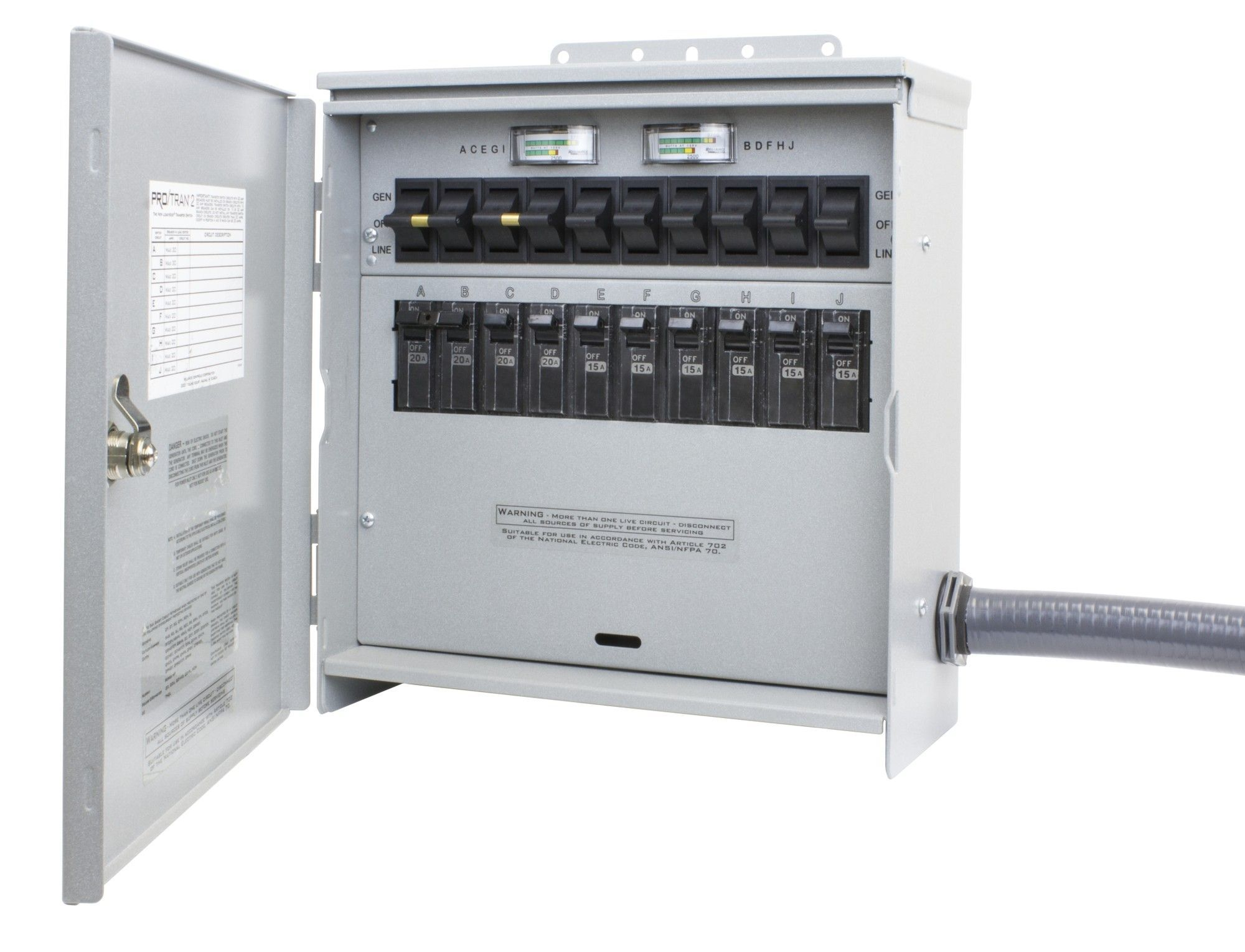 Pro/Tran Outdoor 30-Amp 10-Circuit 2 Manual Transfer Switch