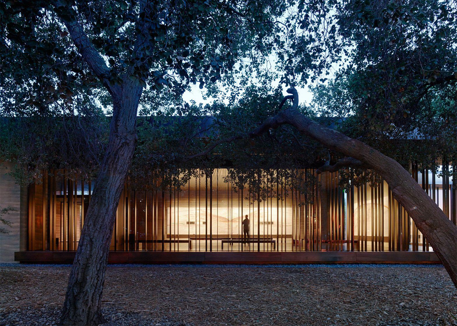 Windhover 명상 센터;  스탠포드, 캘리포니아;  Aidlin 달링 디자인으로