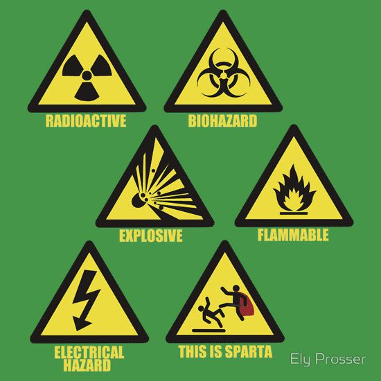 Warning Signs T Shirt By Korben1337 Warning Signs Signs Sign Design