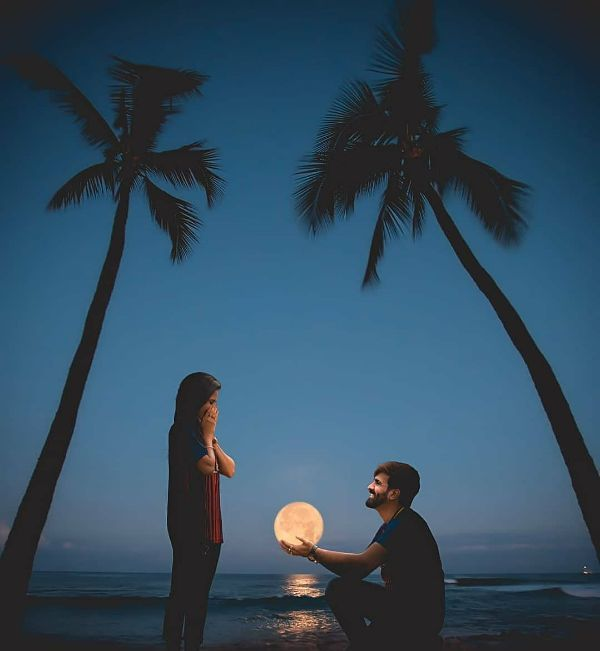 Romantic evening style Pre wedding photoshoot ideas