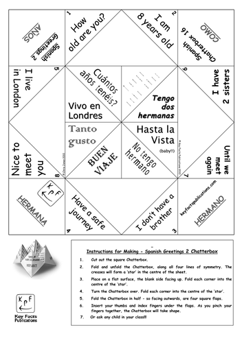 Spanish greetings activity chatterbox 2 learning spanish french lessons spanish greetings m4hsunfo