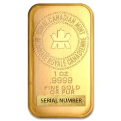 1 Ounce Gold Bar Royal Canadian Mint Gold Silver Bullion Gold Bar