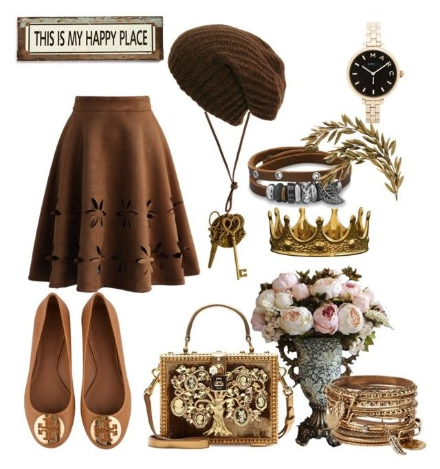 """""""vintage"""" by kirsimari ❤ liked on Polyvore featuring BillyTheTree, Tory Burch, Chicwish, Dolce&Gabbana, Poncho & Goldstein, Marc by Marc Jacobs, ALDO, vintage, women's clothing and women"""