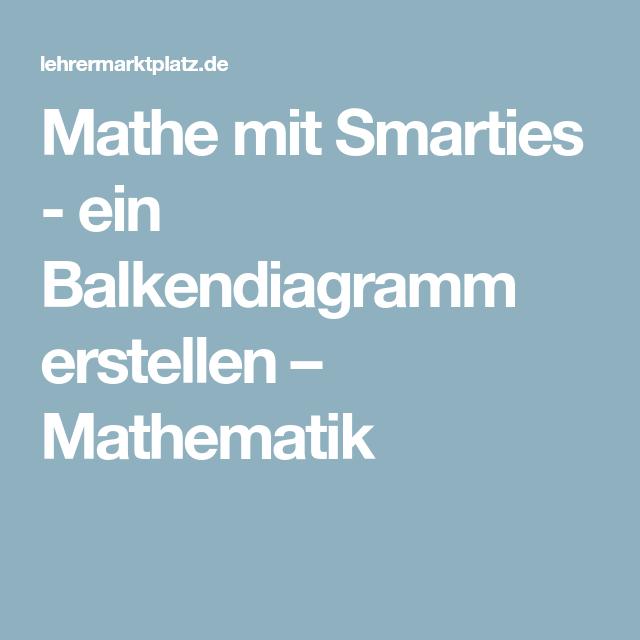 Mathe mit Smarties - ein Balkendiagramm erstellen – Mathematik ...