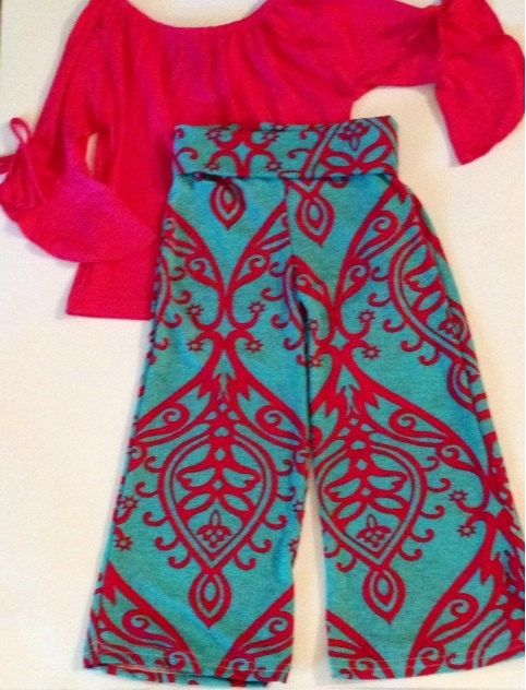 7a1dfda49256 Palazzo Pants For Girls by ilyLilyBaby on Etsy