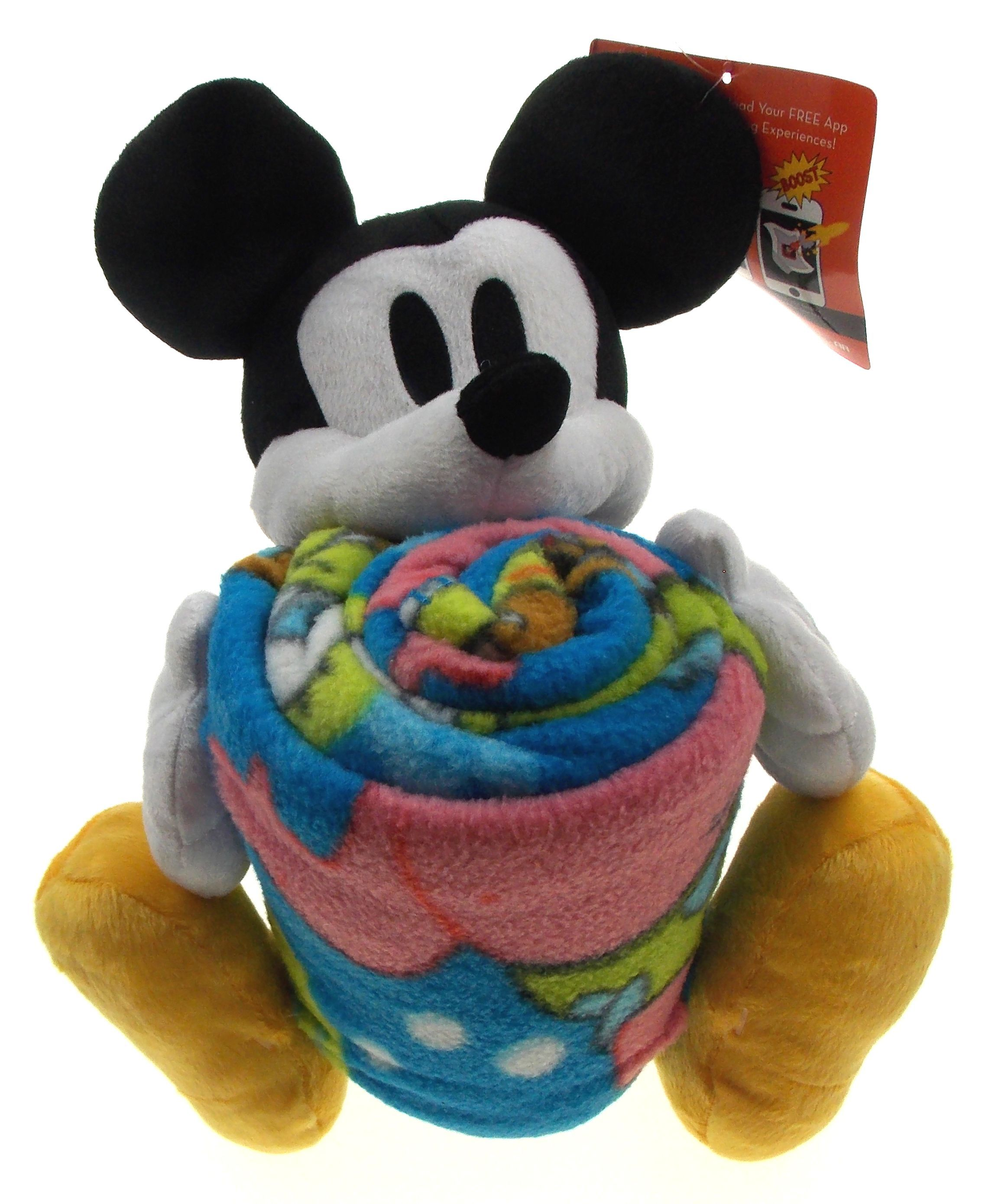 Disney Mickey Mouse Plush Hugger Spongebob Throw Set Soft