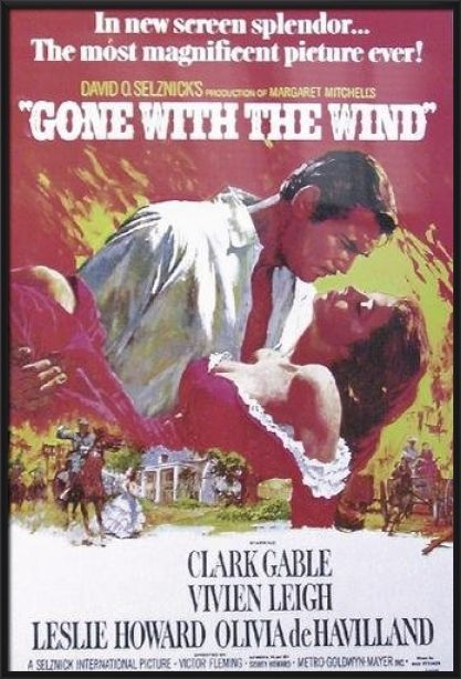 GONE WITH THE WIND - FRAMED MOVIE POSTER / PRINT (REGULAR STYLE) | eBay