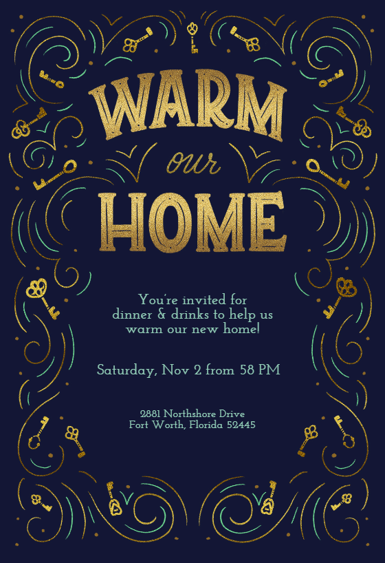 Warm Our Home Housewarming Invitation Template Free Greetings Island House Warming Invitations Housewarming Invitation Templates Housewarming Party Invitations