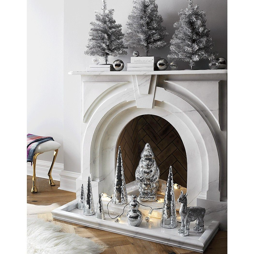 Shop Silver String Lights. Silver tipped line lights twinkle with ...