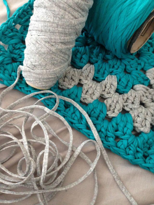 T Shirt Yarn Crochet Bath Rugs