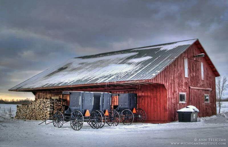 Pin by Diane Guy on Barns Amish house, Amish barns, Old