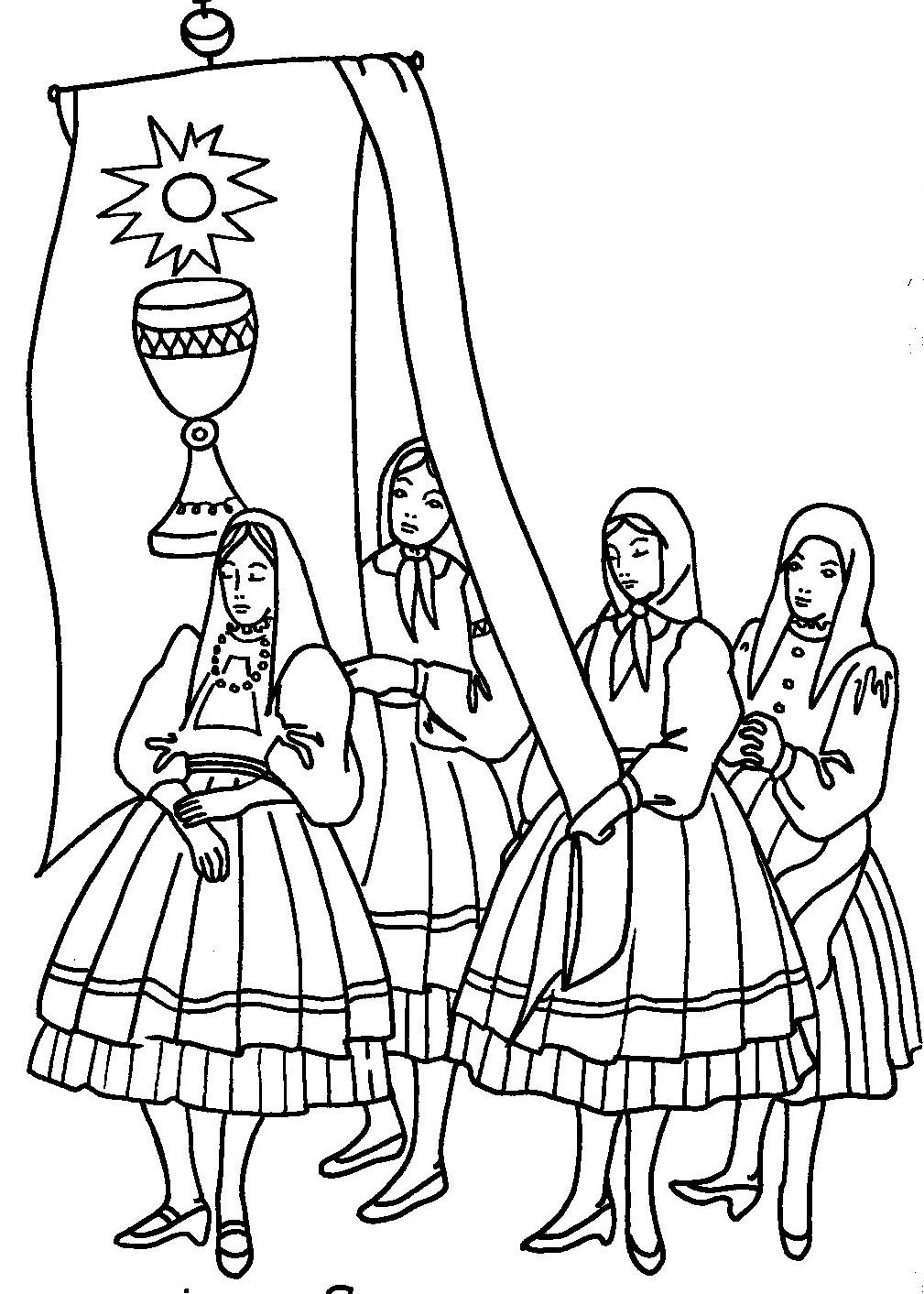medieval coloring pages feast - photo#30