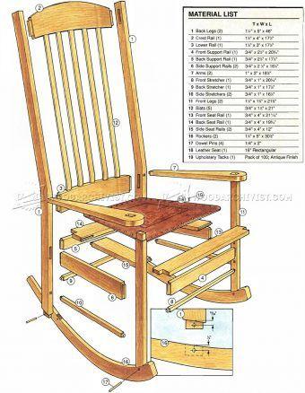 2907 Craftsman Rocking Chair Plans Furniture Plans Woodworking