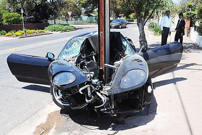 Ferrari 360 Modena Crash In Walkerville Adelaide City South