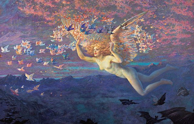 """Edward Robert Hughes (1851-1914), """"On the Wings of the Morning"""""""