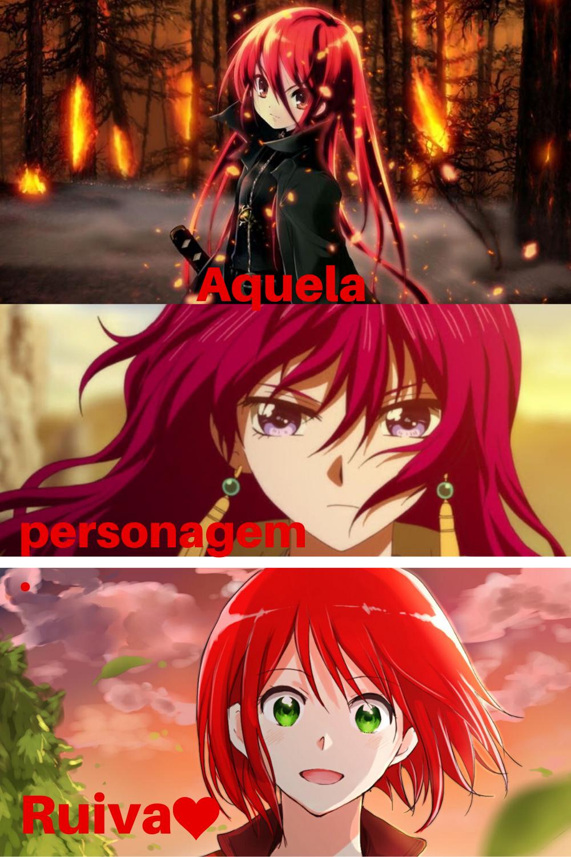 Anime, Personagens ruivas ...