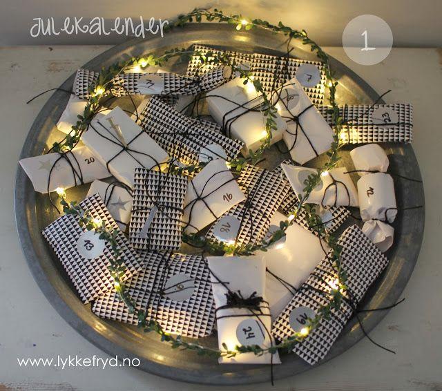 Cute idea for diy advent calendar.