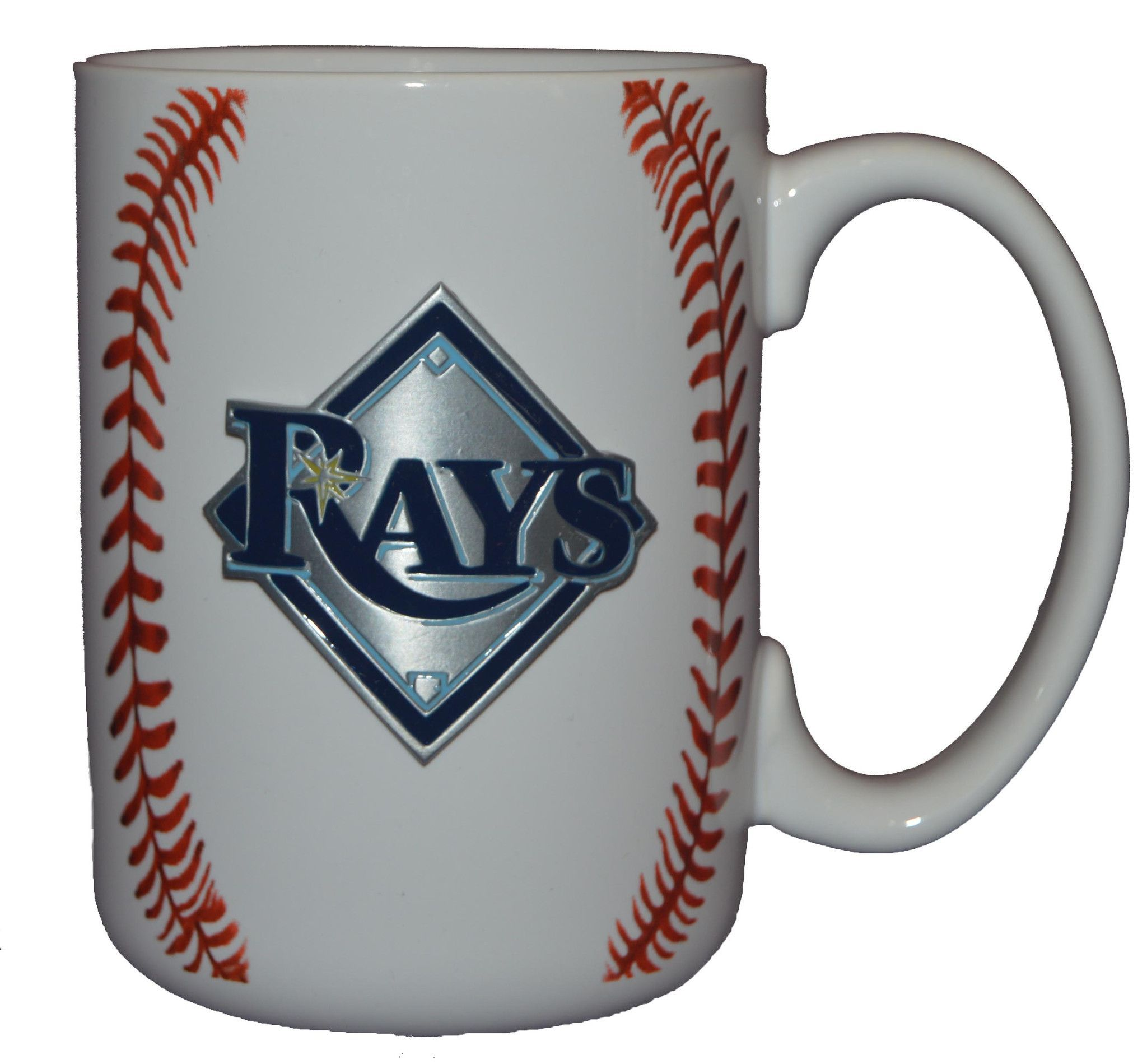 Mlb Tampa Bay Rays Metal Logo 15oz Ceramic Coffee Mug Coffee Mugs Mugs Tampa Bay Rays