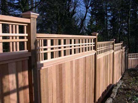 lattice top fences