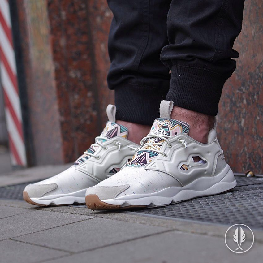 reebok furylite red white blue