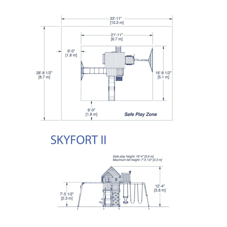 backyard discovery module de jeux skyfort ii portique