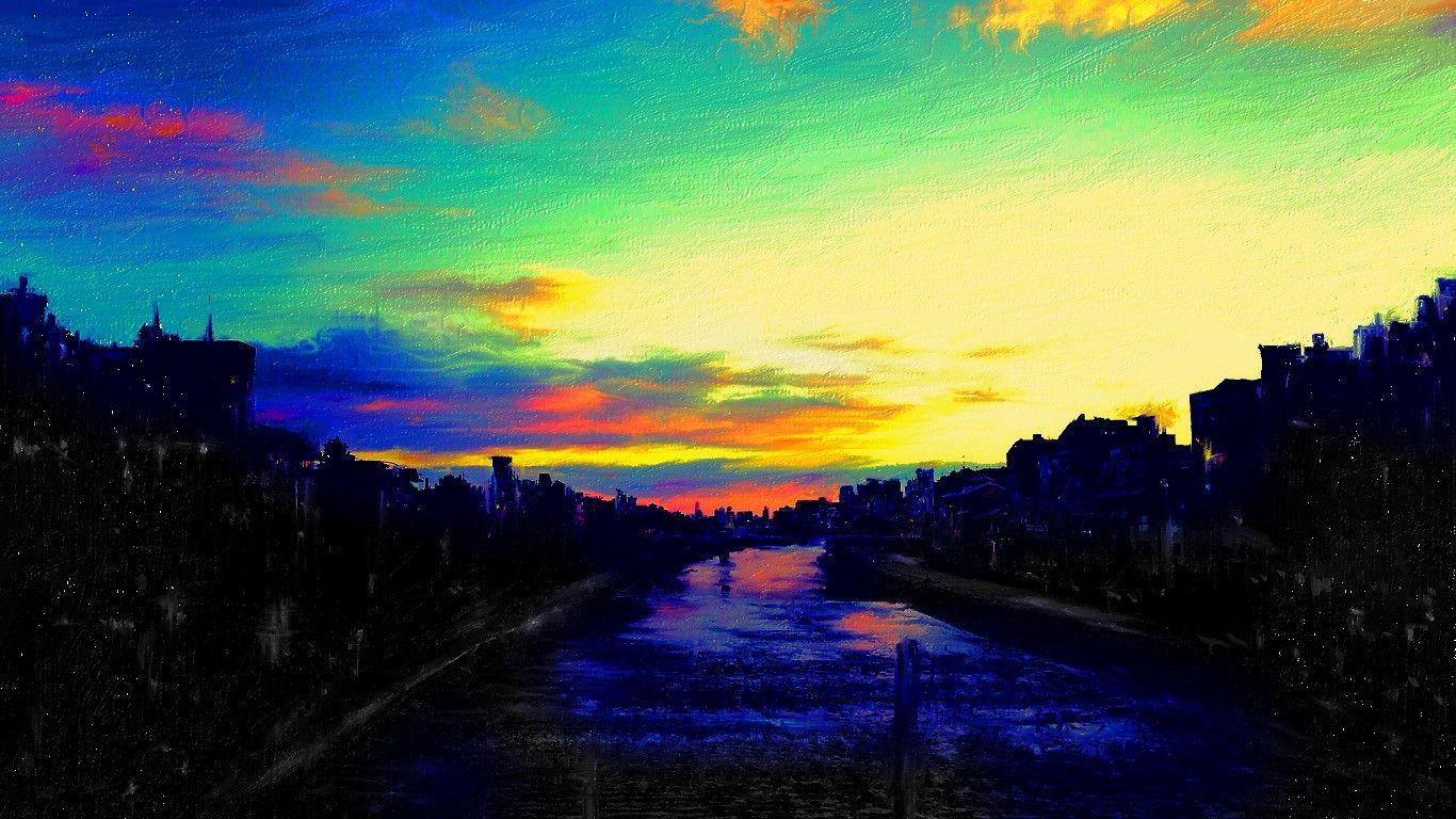 夕暮れ時のウォーターフロントをお絵描きしてみました、昔はこんな感じの風景は当たり前の様な見慣れた風景でだったのに、今は気が付かない自分がこの絵を描きながらいました。  John Legend - All of Me http://youtu.be/450p7goxZqg