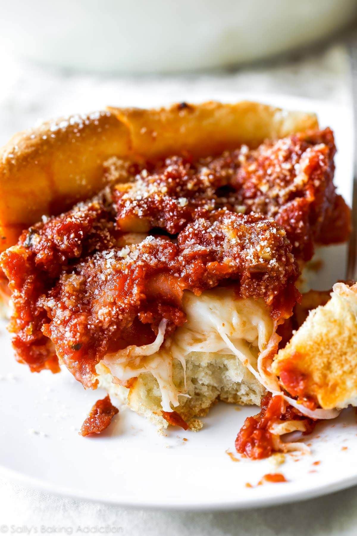 Chicago Style Deep Dish Pizza Recipe With Images Chicago