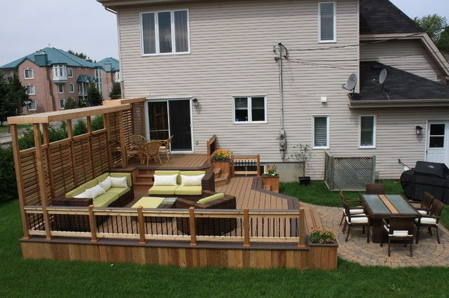 Wood deck designs with trex deck model. #relaxing #wood #comfy #fresh