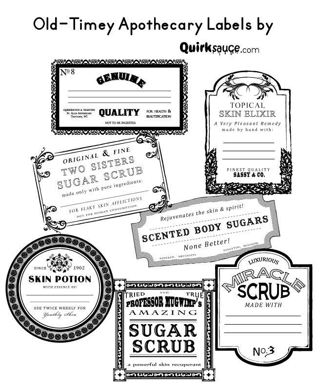 Free Printable Bath Bomb Tag Templates: Apothacary Labels-Look!!!!
