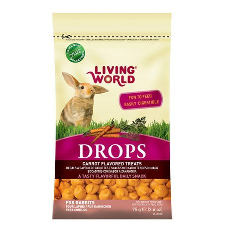 Living World Rabbit Drops, Carrot Flavour Dog food