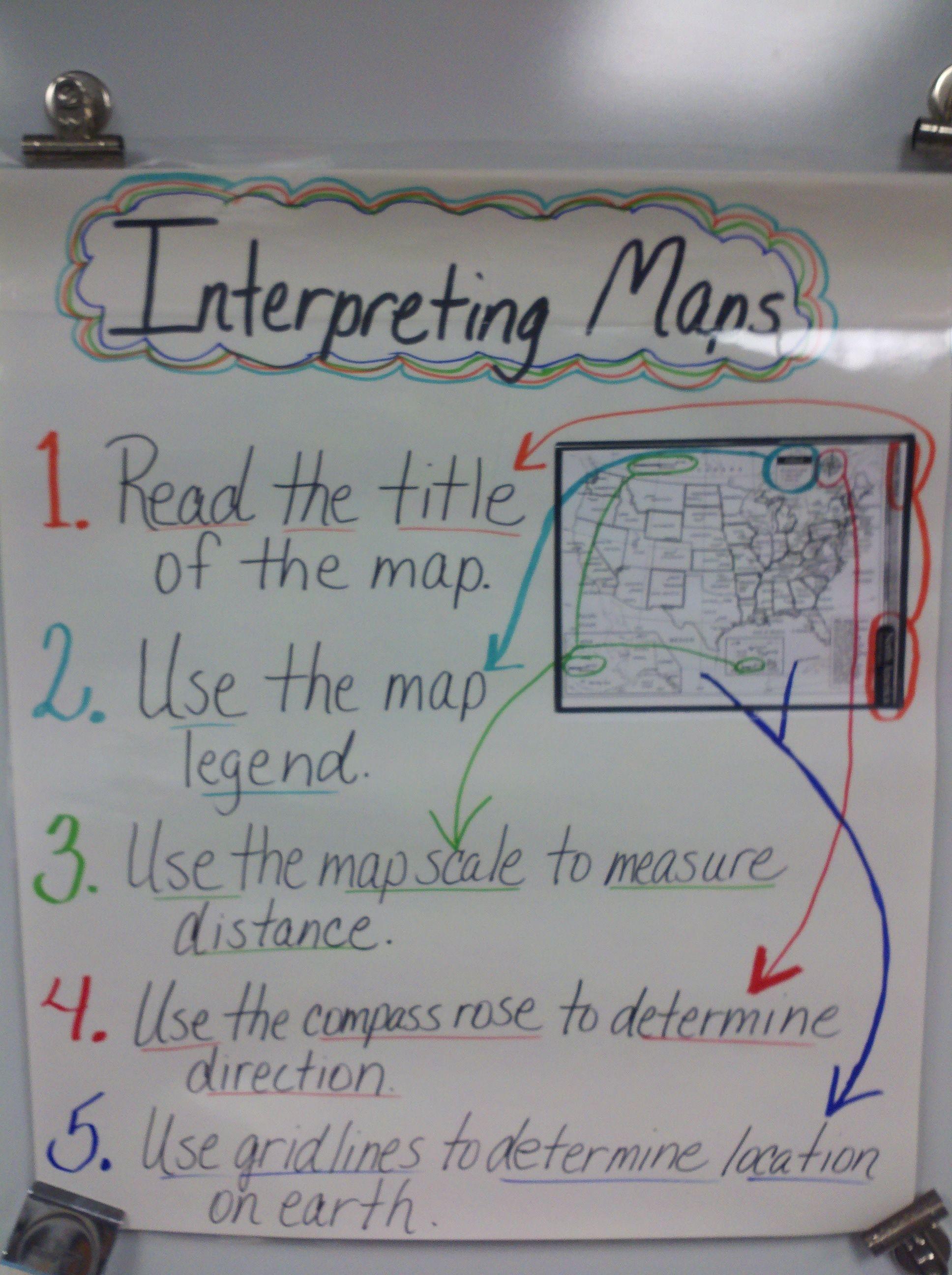 Interpreting Maps Anchor Chart