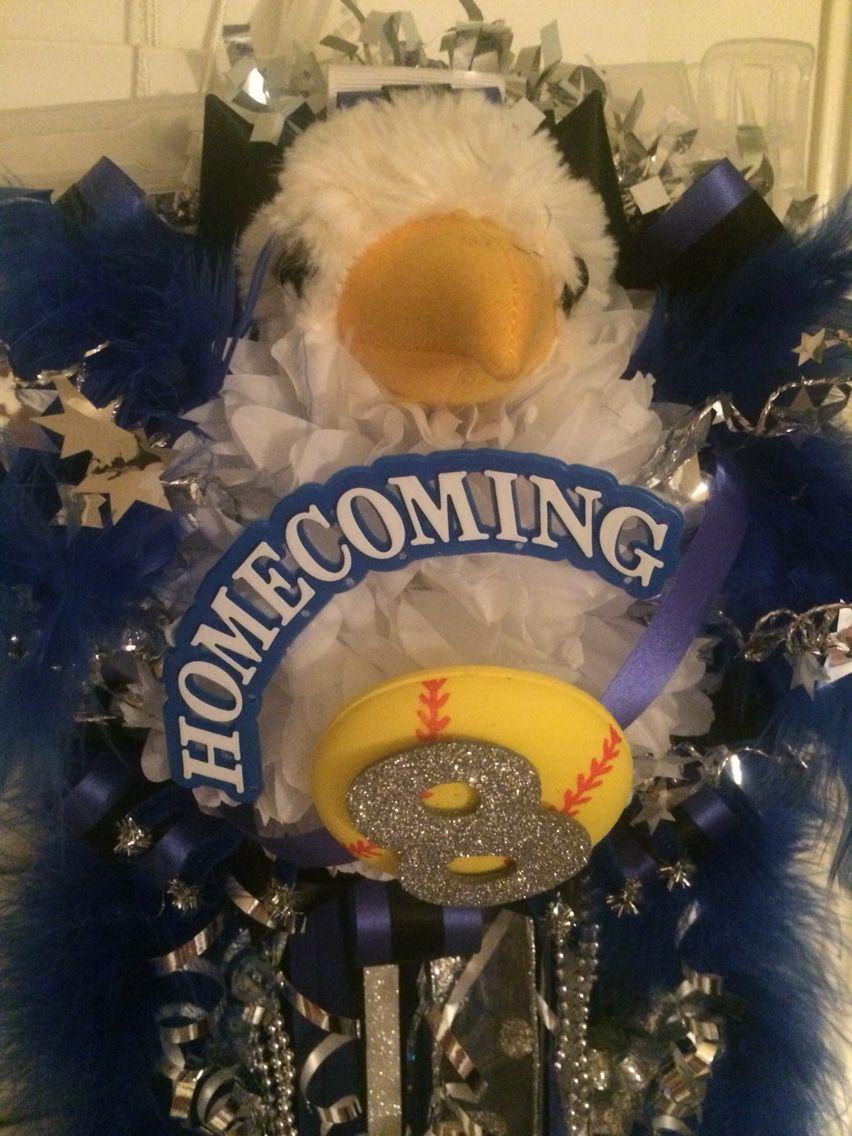 Falcon Themed Homecoming Mum