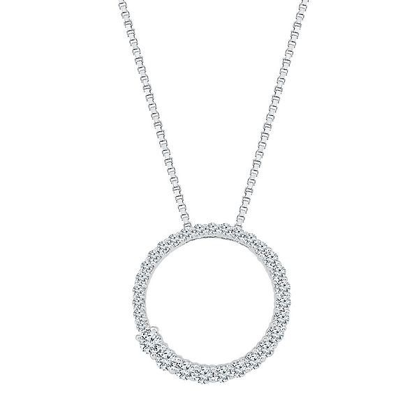 Circle of love 1 ct tw diamond pendant in 10k white gold circle of love 1 ct tw diamond pendant in 10k white gold aloadofball Images