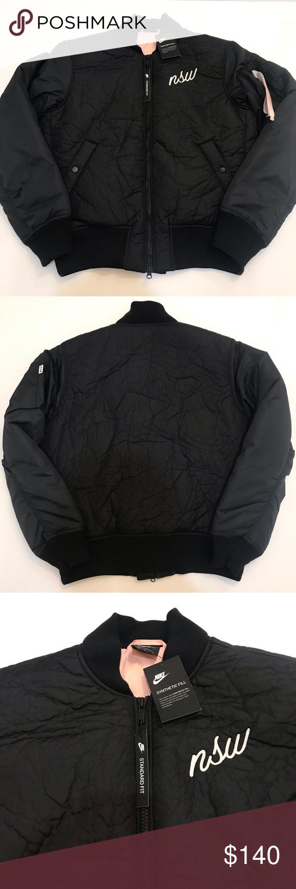 Nike Nsw Synthetic Fill Bomber Jacket Men S Medium New With Tags Nike Nsw Synthetic Fill Bomber Jacket Black With Bomber Jacket Men Bomber Jacket Mens Jackets [ 1740 x 580 Pixel ]