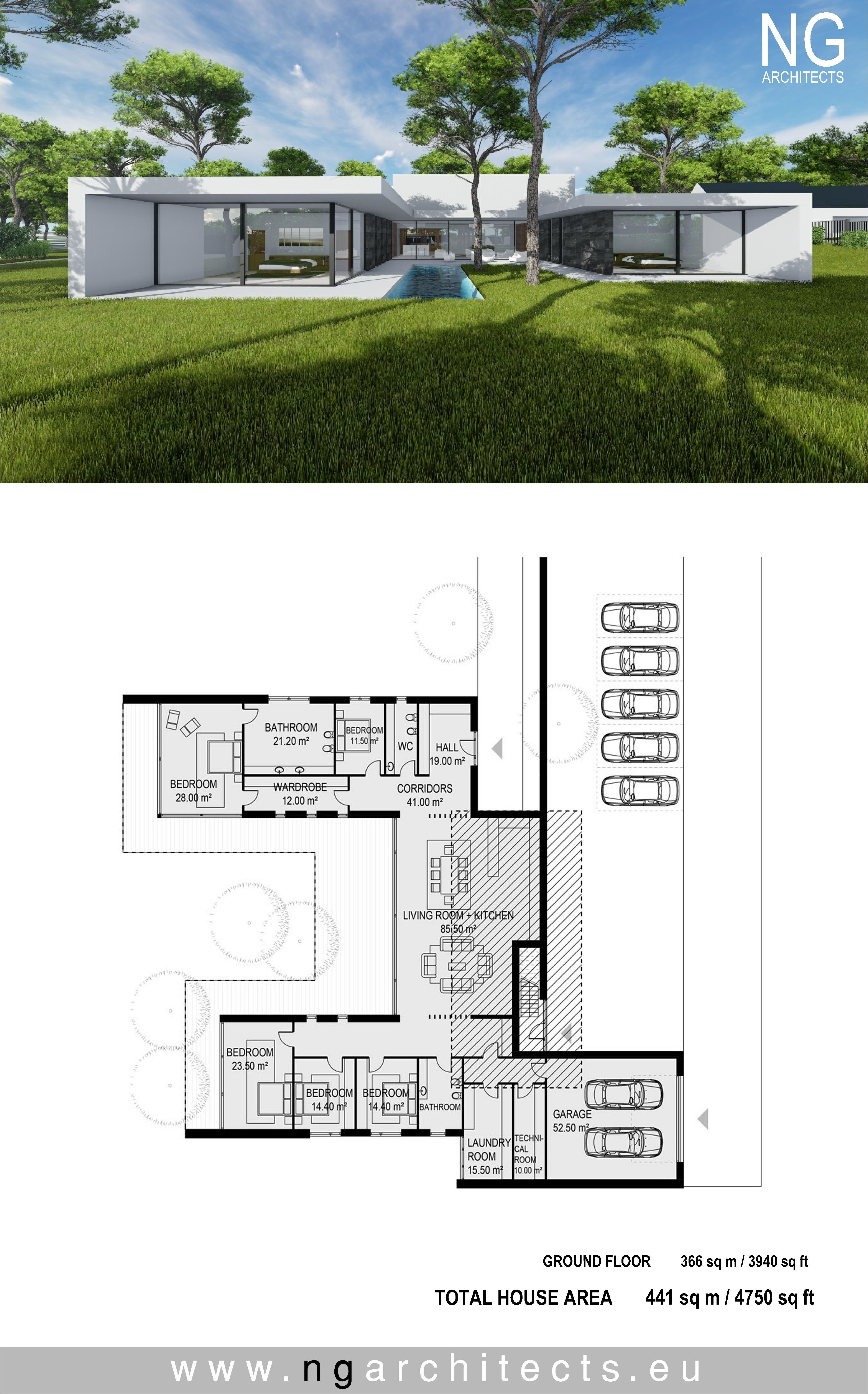modern house plan Villa Unity designed by NG architects www ...