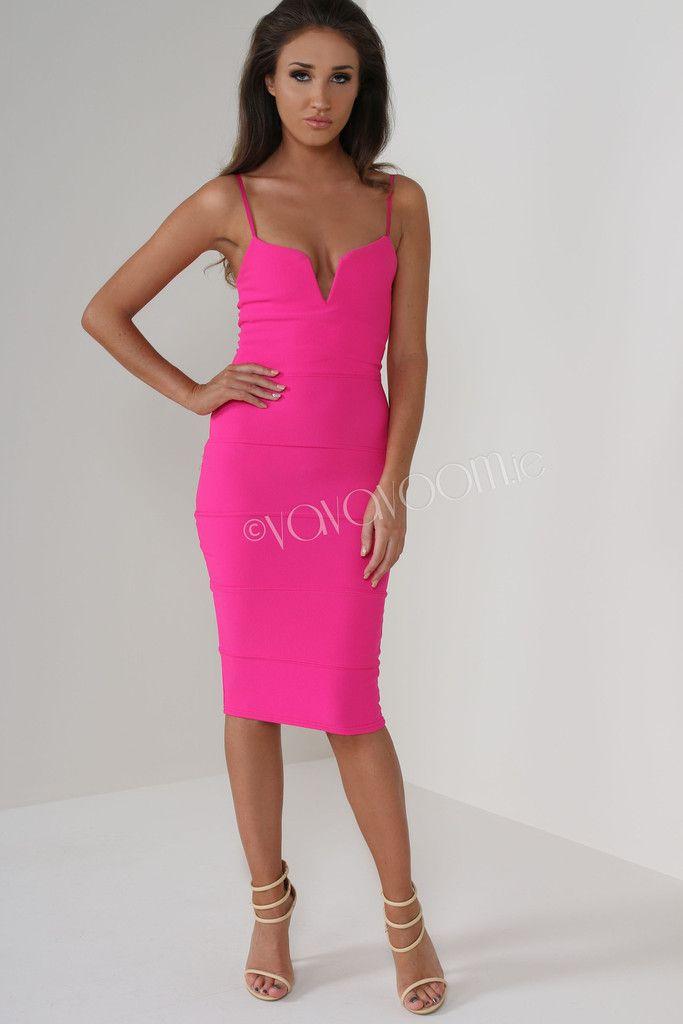 Megan McKenna Hot Pink Strappy Bodycon Dress Online Shopping ...